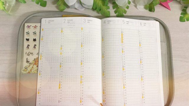 年間スケジュールページ